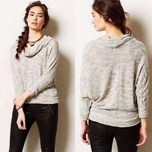 Anthropology Porridge Gray Cowl Neck Sweater L